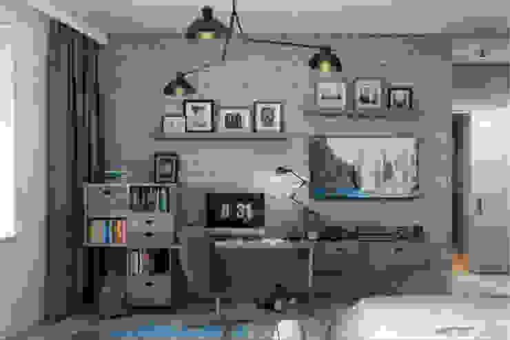 غرفة نوم مراهقين  تنفيذ Дизайн Мира,