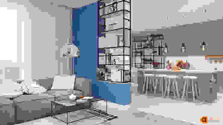 Phòng khách phong cách tối giản bởi Artichok Design Tối giản