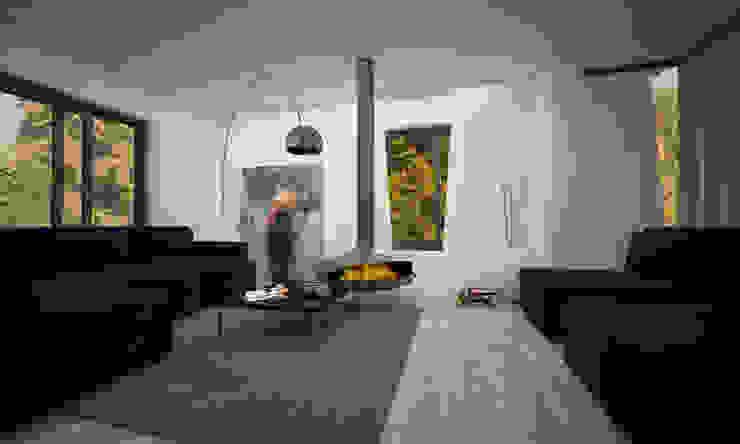 VILLA PIOSSASCO Soggiorno moderno di LAB16 architettura&design Moderno