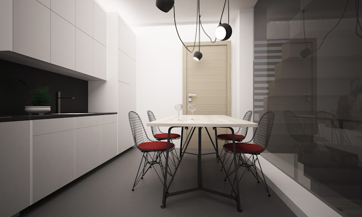 VILLA PIOSSASCO Cucina moderna di LAB16 architettura&design Moderno