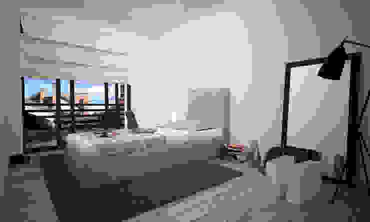 VILLA PIOSSASCO Camera da letto moderna di LAB16 architettura&design Moderno