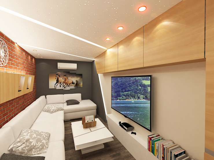Ruang Keluarga Modern Oleh Quattro designs Modern