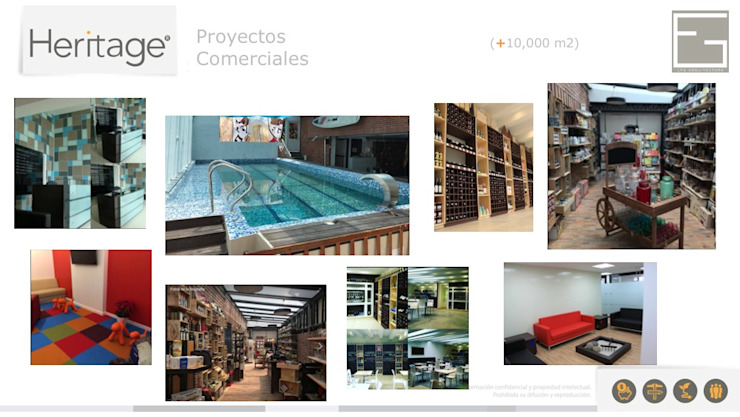 Portafolio Servicios Casas de estilo minimalista de Heritage Design Group Minimalista