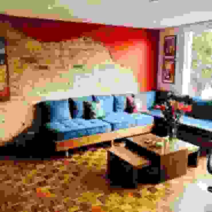 Apartamento BogotaBogota Heritage Design Group Salas de estilo ecléctico