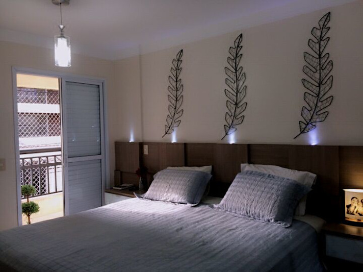QUARTO DE CASAL Minimalist bedroom by STUDIO SPECIALE - ARQUITETURA & INTERIORES Minimalist Wood Wood effect