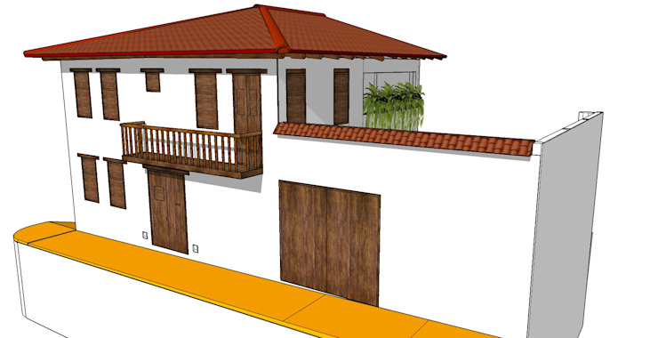 Casa Barichara Casas de estilo colonial de Heritage Design Group Colonial