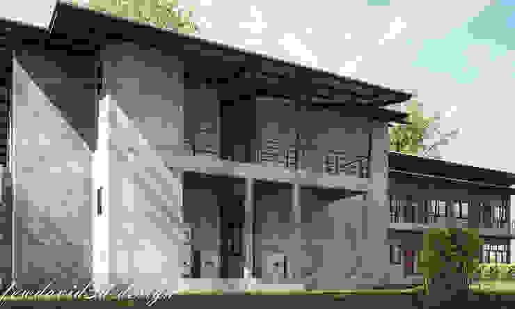 งานออกแบบ หอพัก2ชั้น อ.สามโคก จ.ปทุมธานี/คุณฉวีวรรณ ไวทยาชีวะ โดย fewdavid3d-design