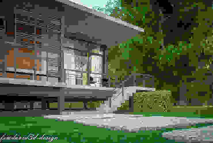 งานออกแบบบ้านพักตากอากาศชั้นเดียว เขาใหญ่ จ.นครราชสีมา อ.ชนะ รักษ์ศิริ โดย fewdavid3d-design