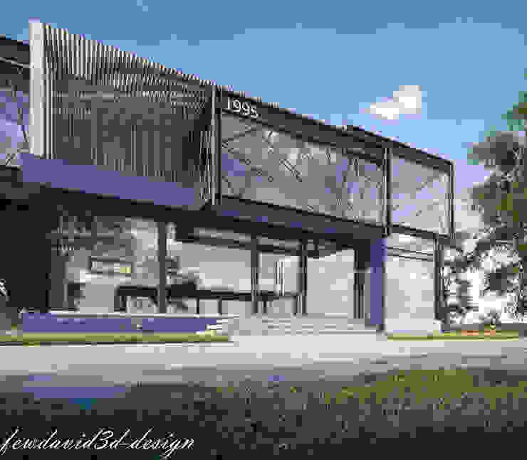 อาคารสำนักงานโครงสร้างเหล็ก โดย fewdavid3d-design