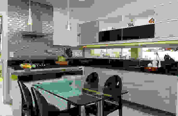 Armarios de cocinas de estilo  por Bernal Projetos - Arquitetos em Salvador, Moderno
