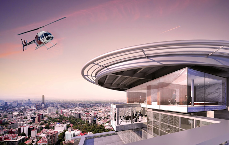 OFICINA – Heliport – Business Suite 2 Aeropuertos de estilo moderno de BODIN BODIN ARQUITECTOS Moderno