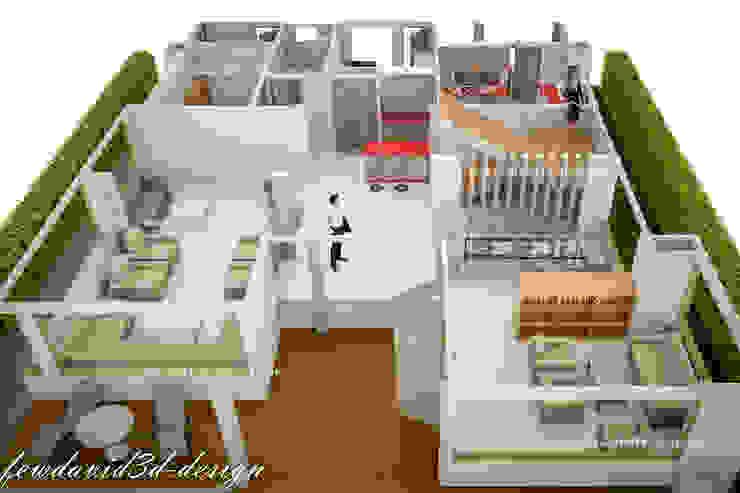 Modern three storey house in Phnom Penh Cambodia .Mr.Samnang โดย fewdavid3d-design