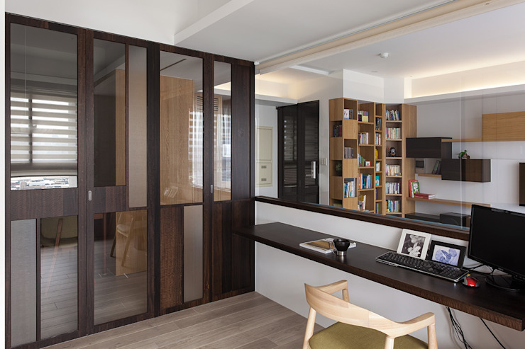 書房隔間設計 Modern Study Room and Home Office by 禾光室內裝修設計 ─ Her Guang Design Modern