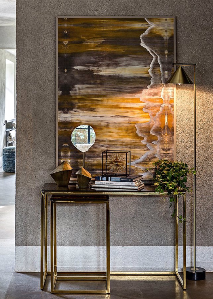 modern  by Spacio Collections, Modern Textile Amber/Gold