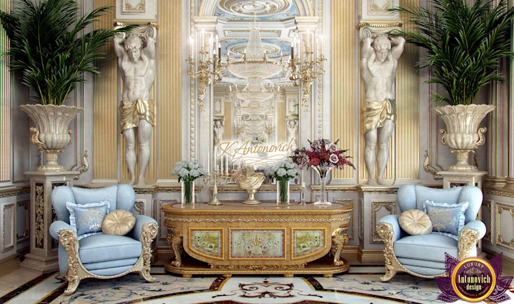 ​The art of interior design from Katrina Antonovich Classic style dining room by Luxury Antonovich Design Classic