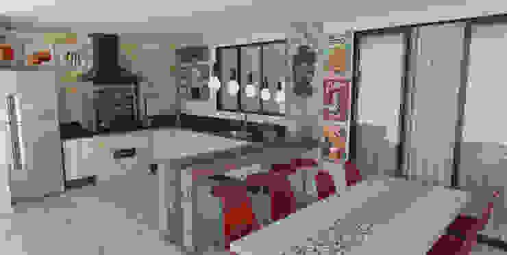 Espaço Gourmet 32m² Varandas, alpendres e terraços ecléticos por Carolina Mendes Arquiteta Eclético