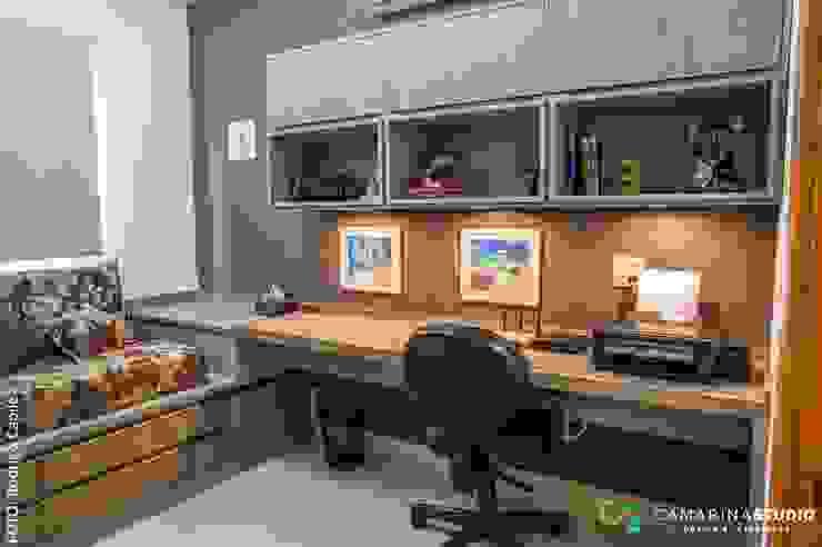 Rustic style study/office by Camarina Studio Rustic