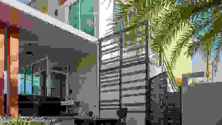 HOMEOFFICE 2ชั้น <q>แอท เมืองพลอย รีสอร์ท</q> อ.บ่อพลอย จ.กาญจนบุรี โดย fewdavid3d-design