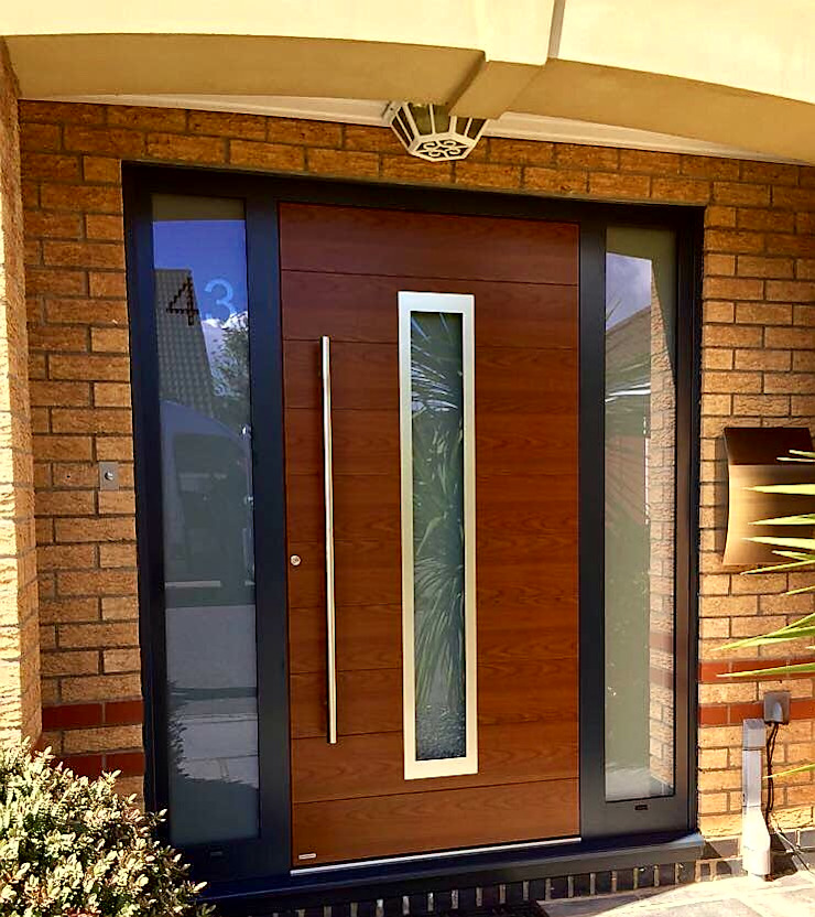General Images RK Door Systems Front doors Aluminium/Zinc Wood effect