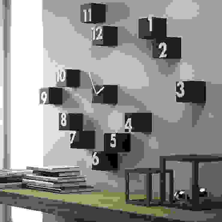 Progetti Rnd Time Wall Clock: modern  by Just For Clocks,Modern Ceramic