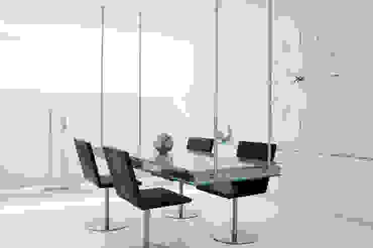Nomon Merlin Mini 12 N - Walnut & Steel Wall Clock: modern  by Just For Clocks,Modern Iron/Steel