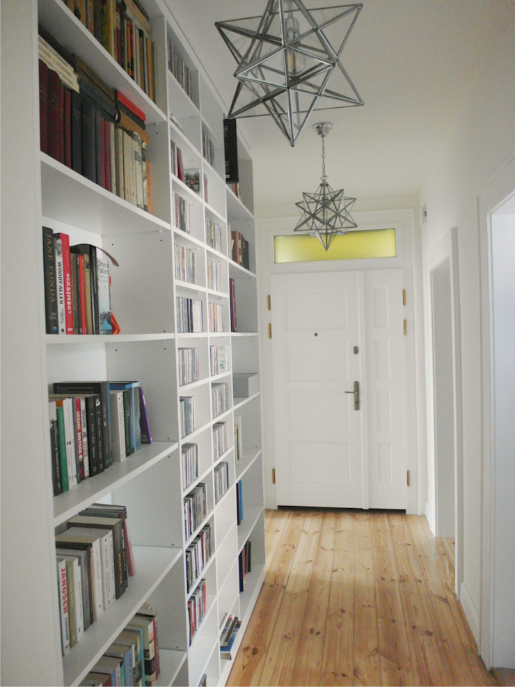 Eclectic style corridor, hallway & stairs by NaNovo Eclectic