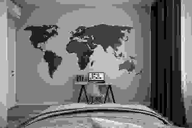 Phòng ngủ phong cách công nghiệp bởi Студия архитектуры и дизайна Дарьи Ельниковой Công nghiệp