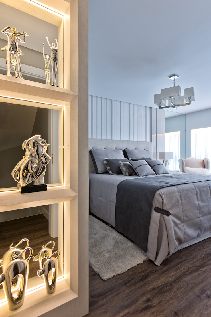 Dormitorios de estilo moderno de Ana Crivellaro Moderno Tablero DM
