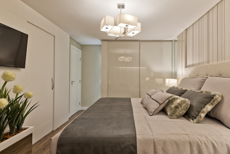 Dormitorios de estilo moderno de Ana Crivellaro Moderno Vidrio