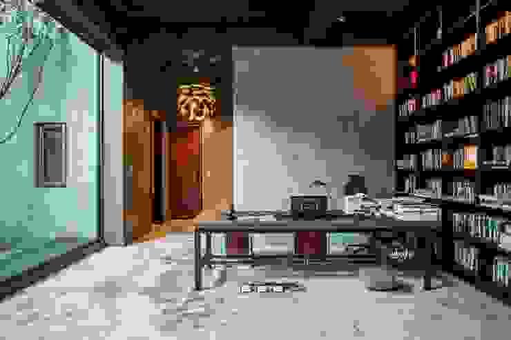 獨創清幽宅 根據 業傑室內設計 簡約風 水泥