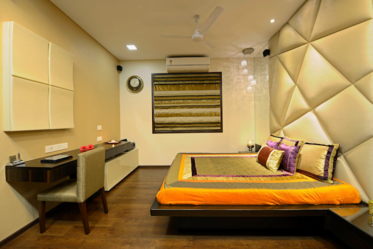 Matunga Apartment Modern style bedroom by Fourth Axis Designs Modern
