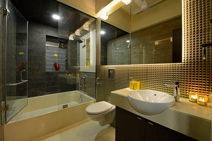 Matunga Apartment:  Bathroom by Fourth Axis Designs,Modern