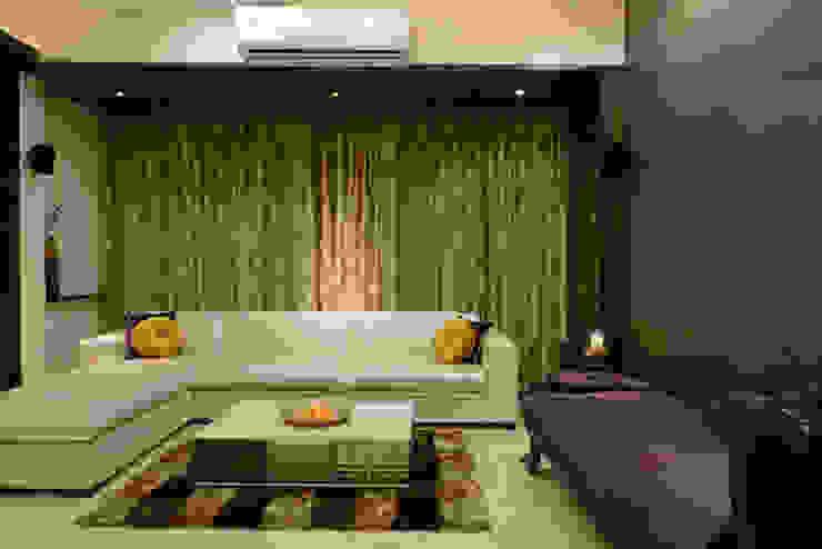 Matunga Apartment Modern living room by Fourth Axis Designs Modern