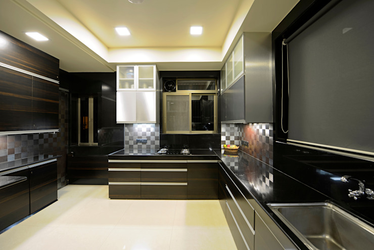 Matunga Apartment Fourth Axis Designs Eclectic style kitchen