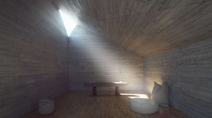 Proposta - interior capela por David Bilo | Arquitecto