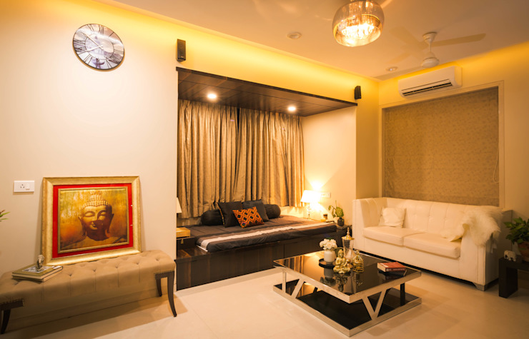 Bombay Central Residence Modern living room by Fourth Axis Designs Modern