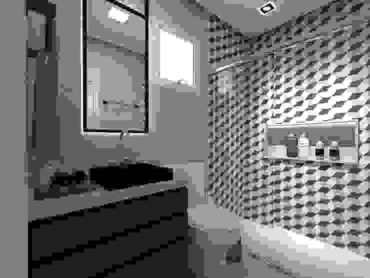 Banho dos Filhos Letícia Saldanha Arquitetura Banheiros modernos