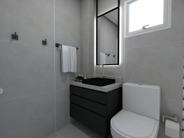 Banho dos Filhos Banheiros modernos por Letícia Saldanha Arquitetura Moderno