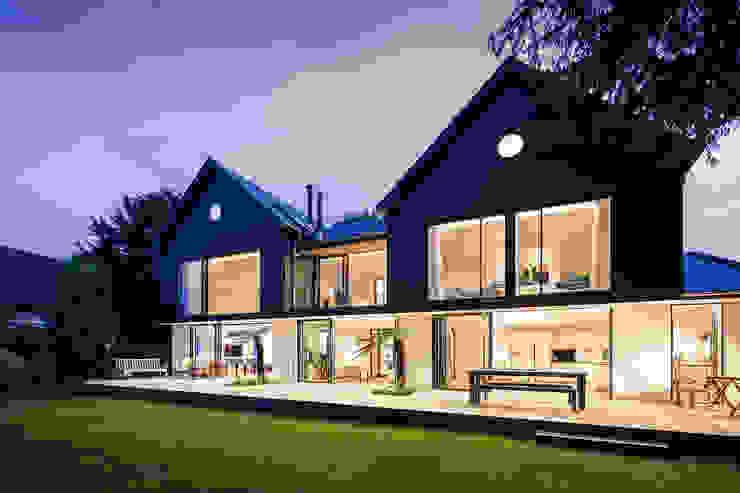 Boyle Farm Concept Eight Architects Modern style balcony, porch & terrace