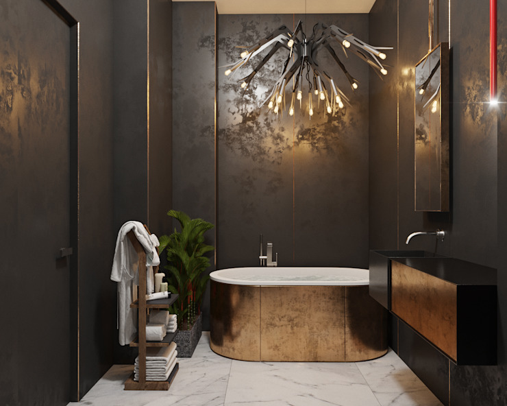 Eclectic style bathroom by ДОМ СОЛНЦА Eclectic