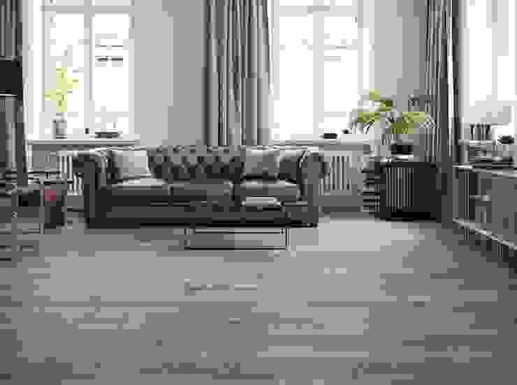 Behagliches Wohnzimmer mit Holzoptikfliesen Fliesen Sale Moderne Wohnzimmer Fliesen Beige