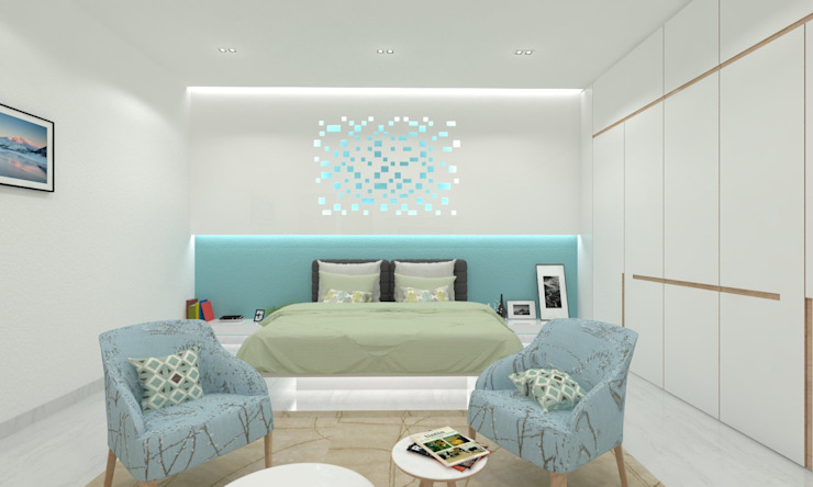 Master Bedroom Minimalist bedroom by Ravi Prakash Architect Minimalist Engineered Wood Transparent