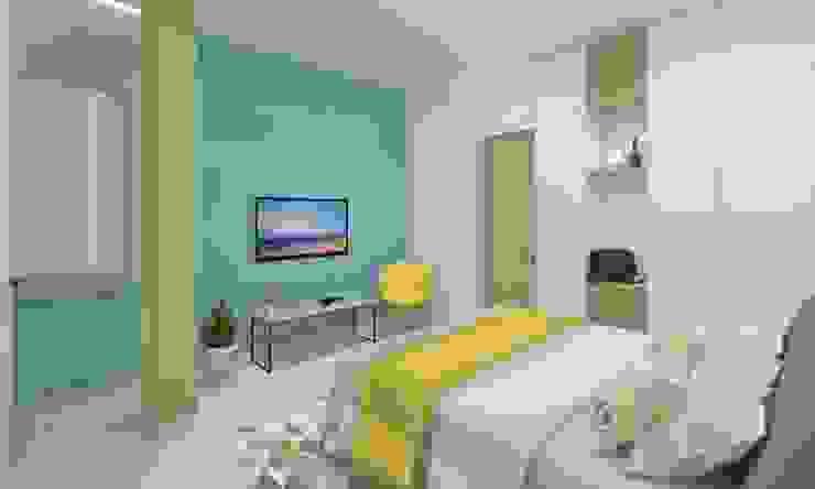 Guest Bedroom 根據 Ravi Prakash Architect 簡約風 複合木地板 Transparent