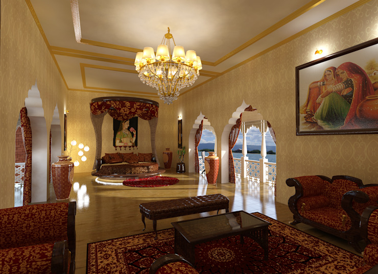 Bridal Suite Classic style bedroom by Ravi Prakash Architect Classic Marble