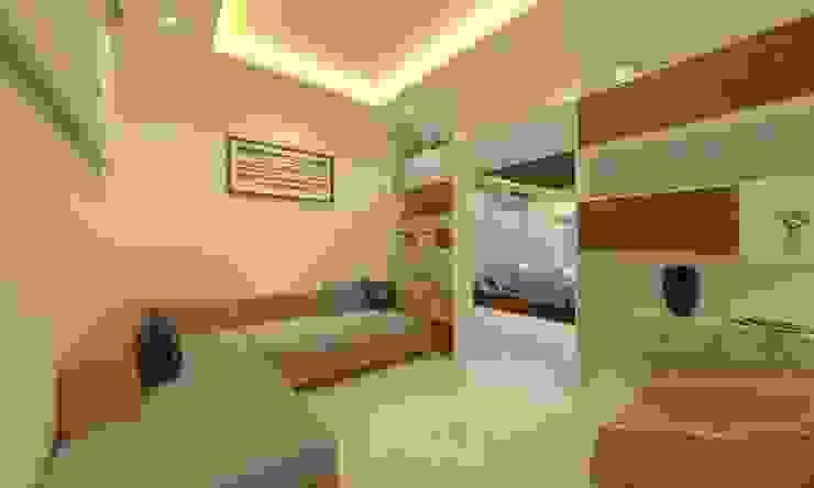 Drawing Room Asian style corridor, hallway & stairs by Ravi Prakash Architect Asian Engineered Wood Transparent