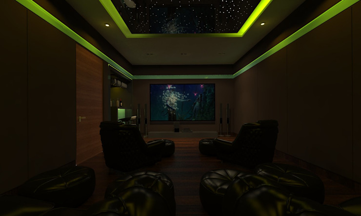 Home Theatre by Ravi Prakash Architect Asian Engineered Wood Transparent