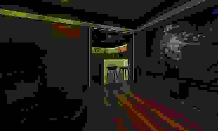 Home Theatre Modern media room by Ravi Prakash Architect Modern Engineered Wood Transparent