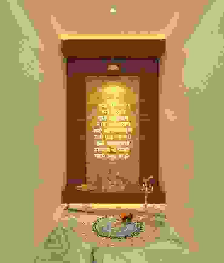 Puja Room Asian style corridor, hallway & stairs by Ravi Prakash Architect Asian Engineered Wood Transparent