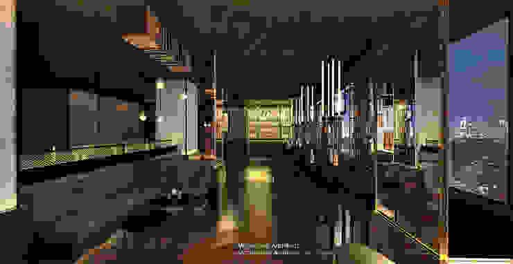 21STUDIO – Cafe & Bar Lounge @Golden Boutique Hotel Bar & Klub Gaya Industrial Oleh Michel Sen Architect Industrial