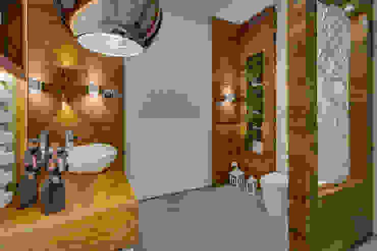 Lavabo: Banheiros  por Guaraúna Revestimentos,Moderno
